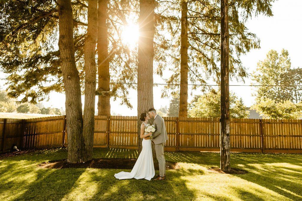 backyard portraits portland oregon wedding photographer elopement
