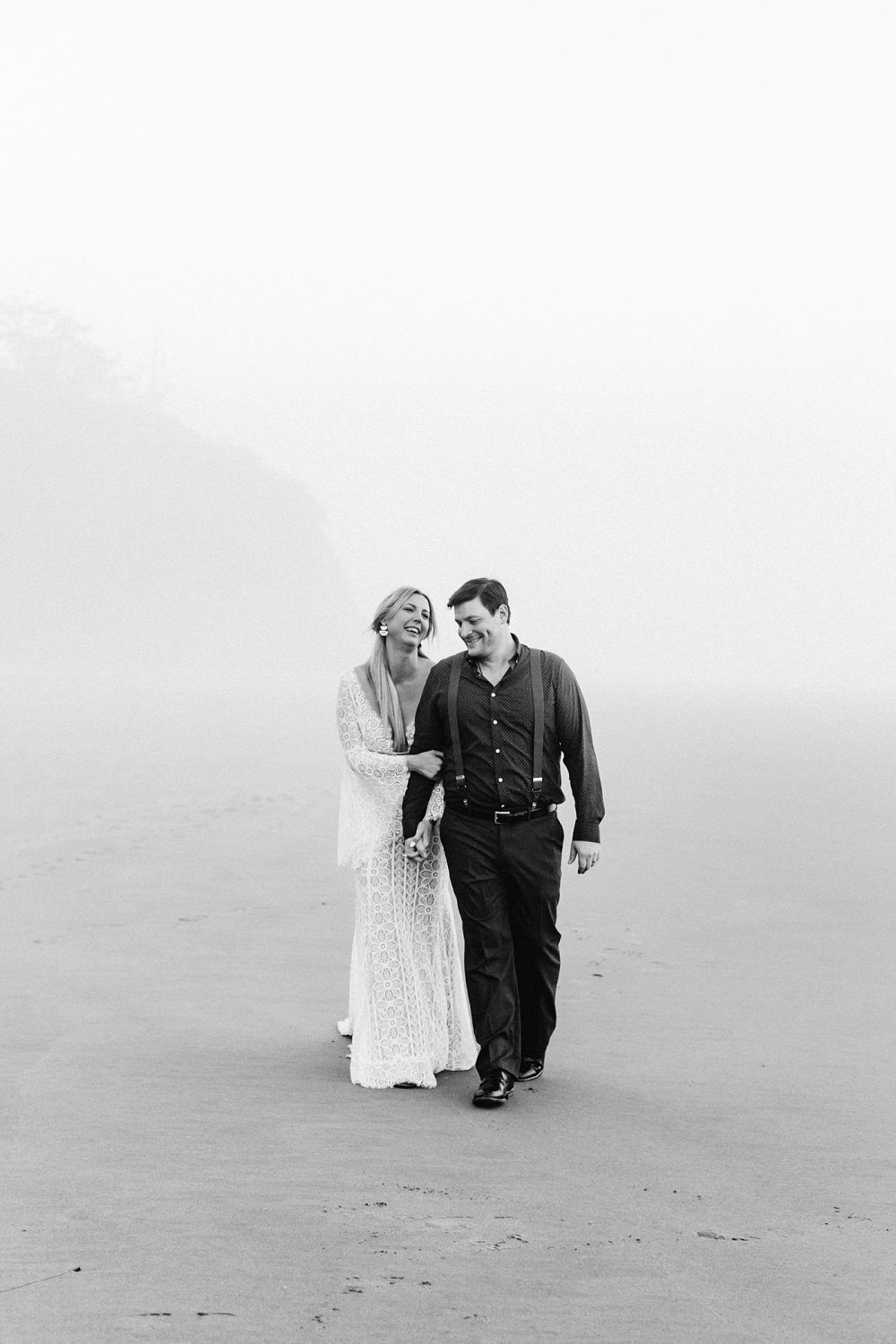 secluded moments after elopement ceremony