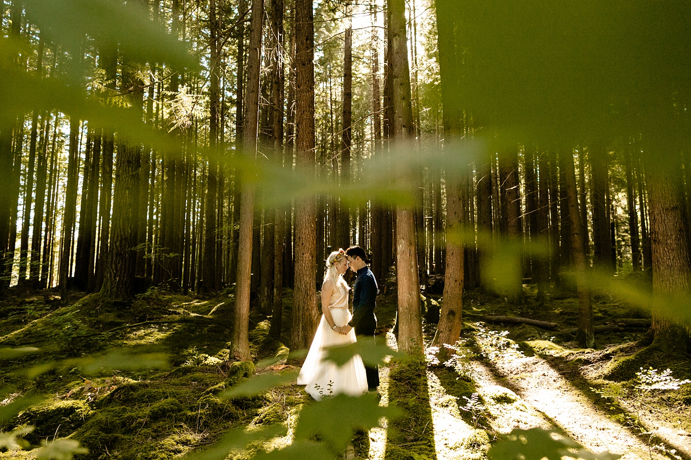 Emerald Forest Engagement Photographer Treehouse Wedding Venue PNW TMinspired Photography