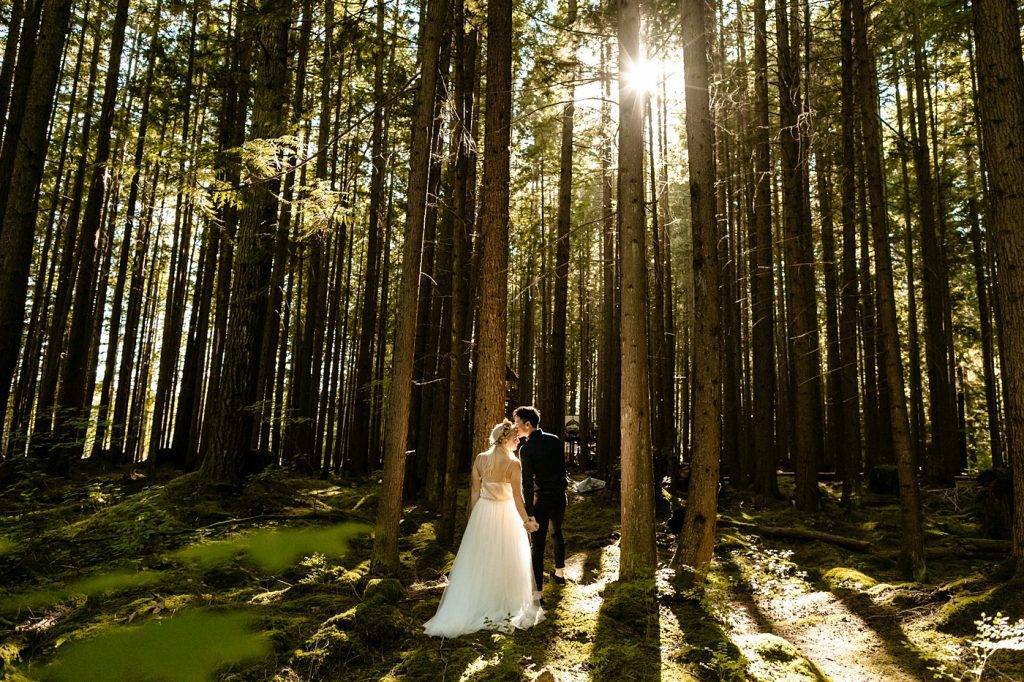 Wedding venue in the woods elopement photographer