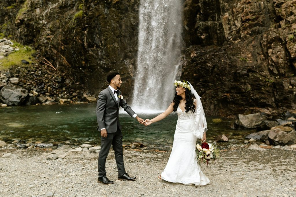 candid posing ideas bride and groom adventure elopement