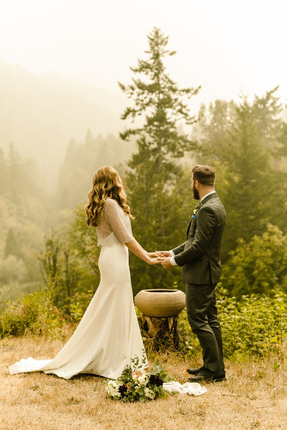 ceremony location secluded elopement photographer