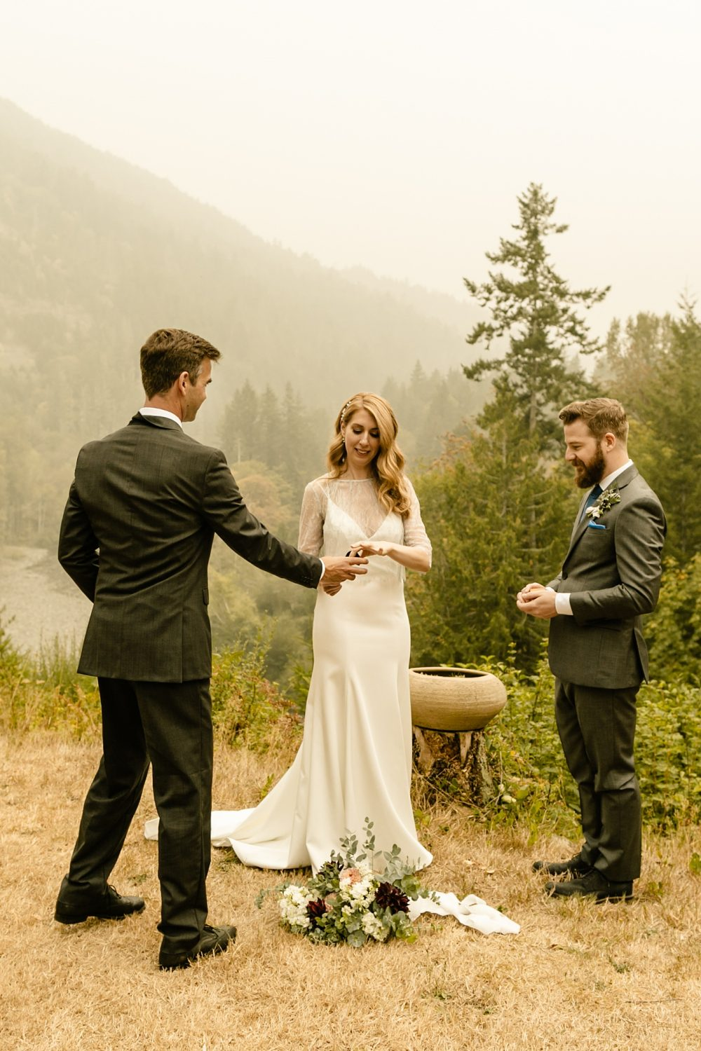 exchanging rings ceremony with no officiant elopement