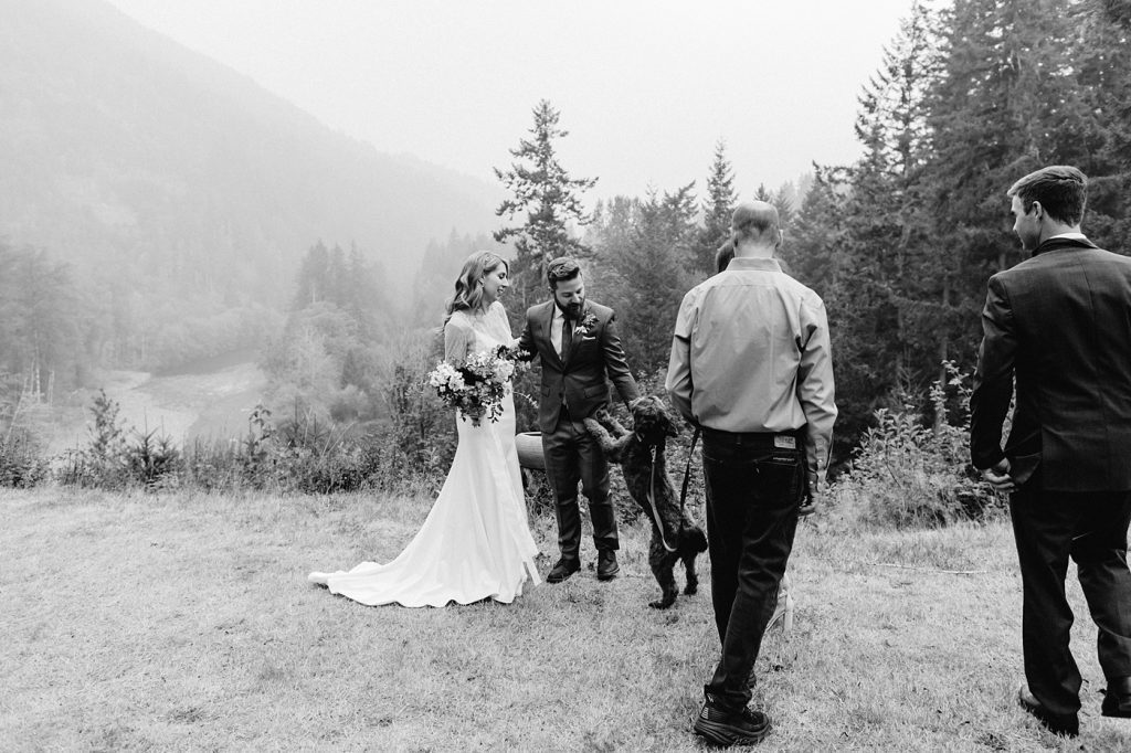 including dog in ceremony elopement photographer washington state