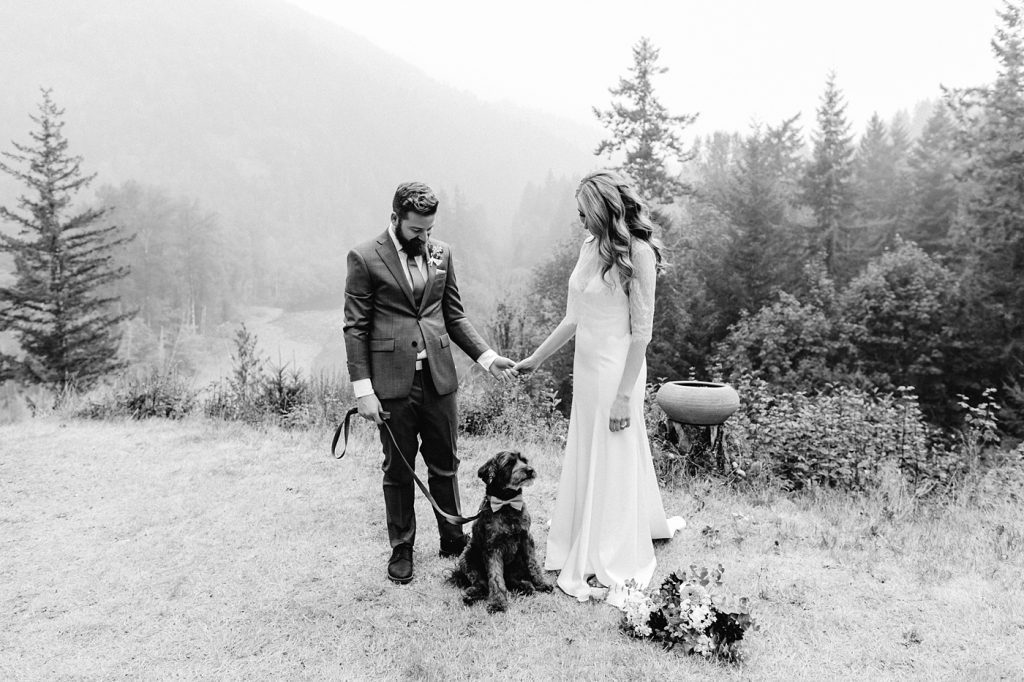 rescue dog elopement wedding ceremony