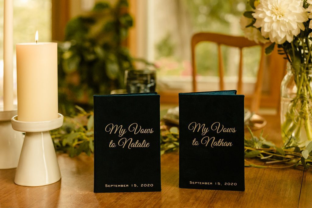 vow books velvet blue sweetheart table
