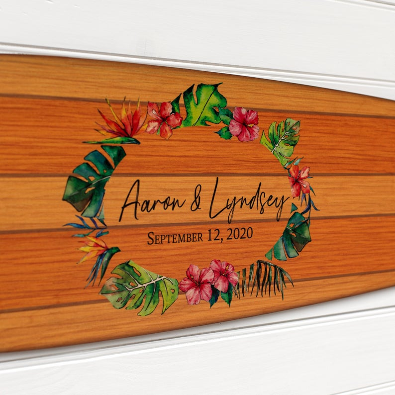 surfboard unique guest book ideas for your wedding