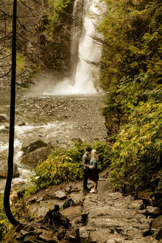 Franklin Falls Washington Engagement Photos