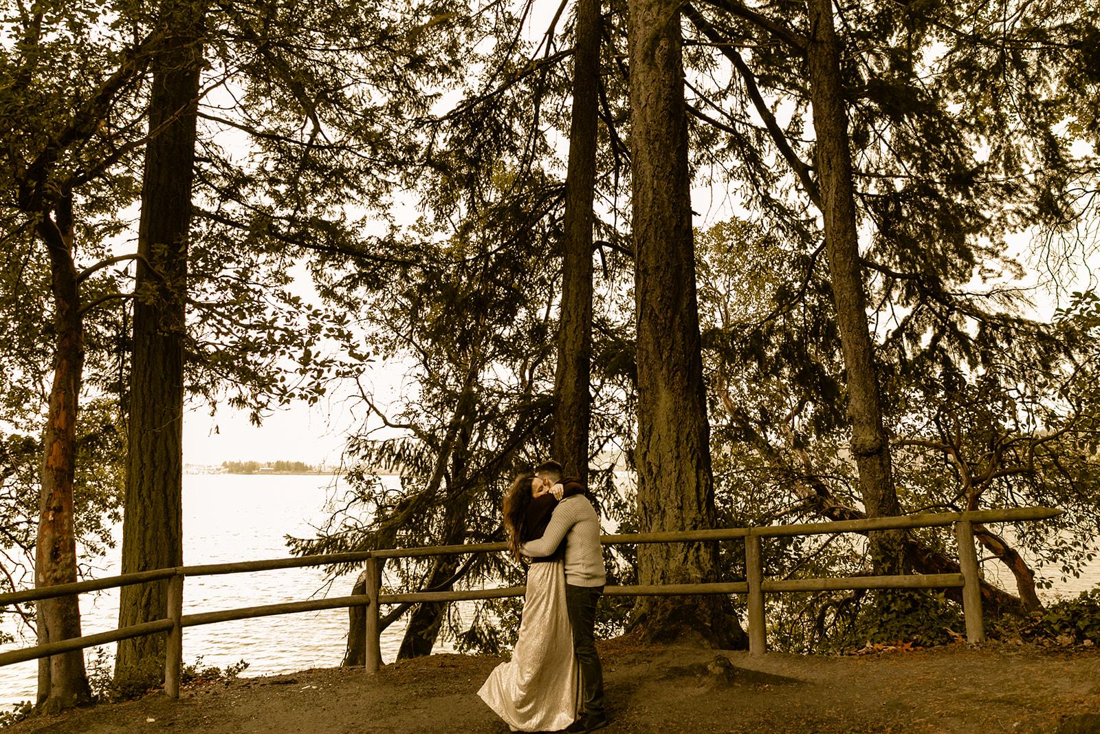 Priest Point Washington Engagement Photos