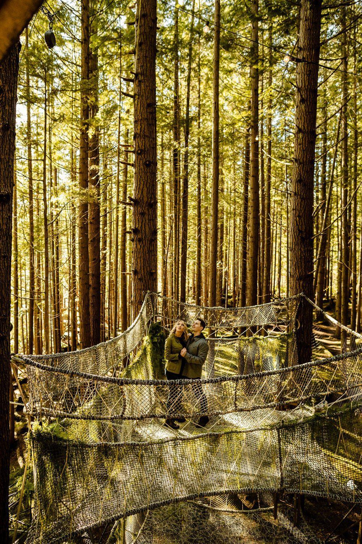 Emerald Forest Washington Engagement Photos